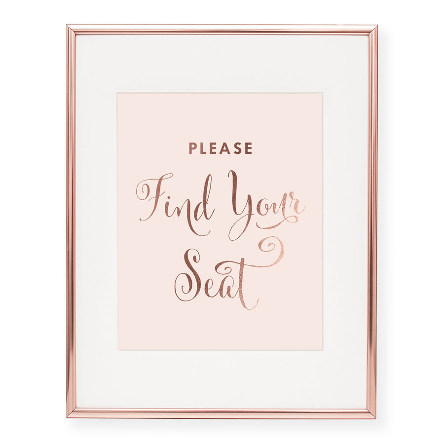 Find Your Seat Foil Art Print