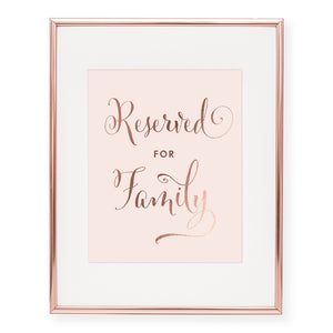 Reserved for Family Foil Art Print