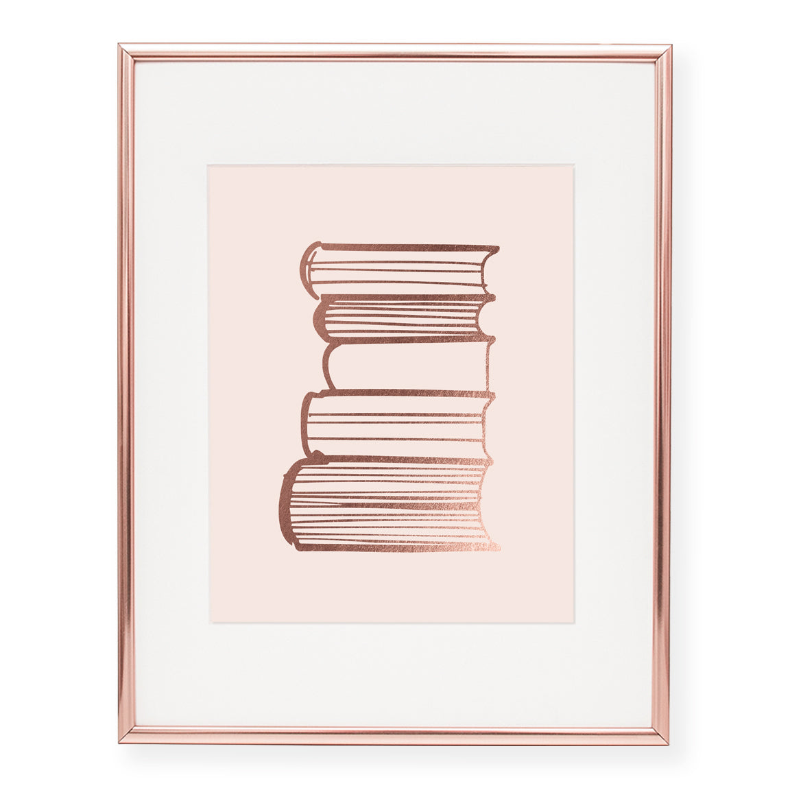 Books Foil Art Print