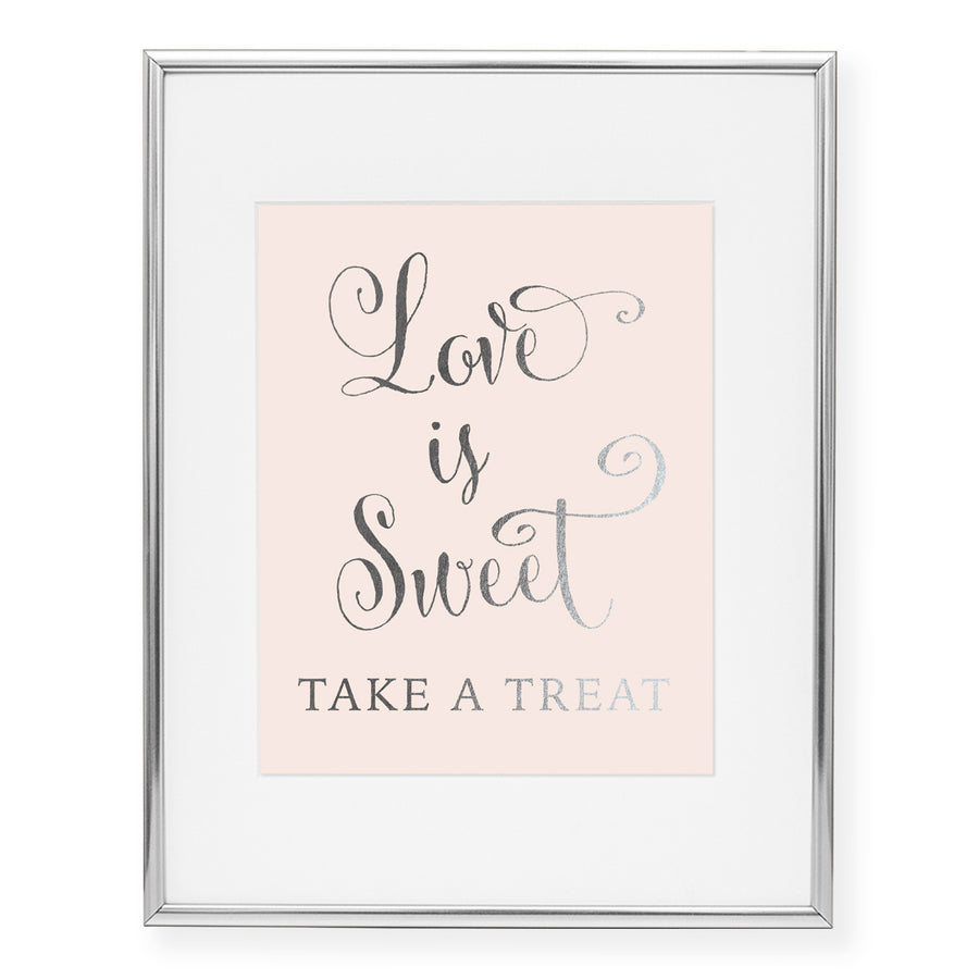Love Is Sweet Foil Art Print
