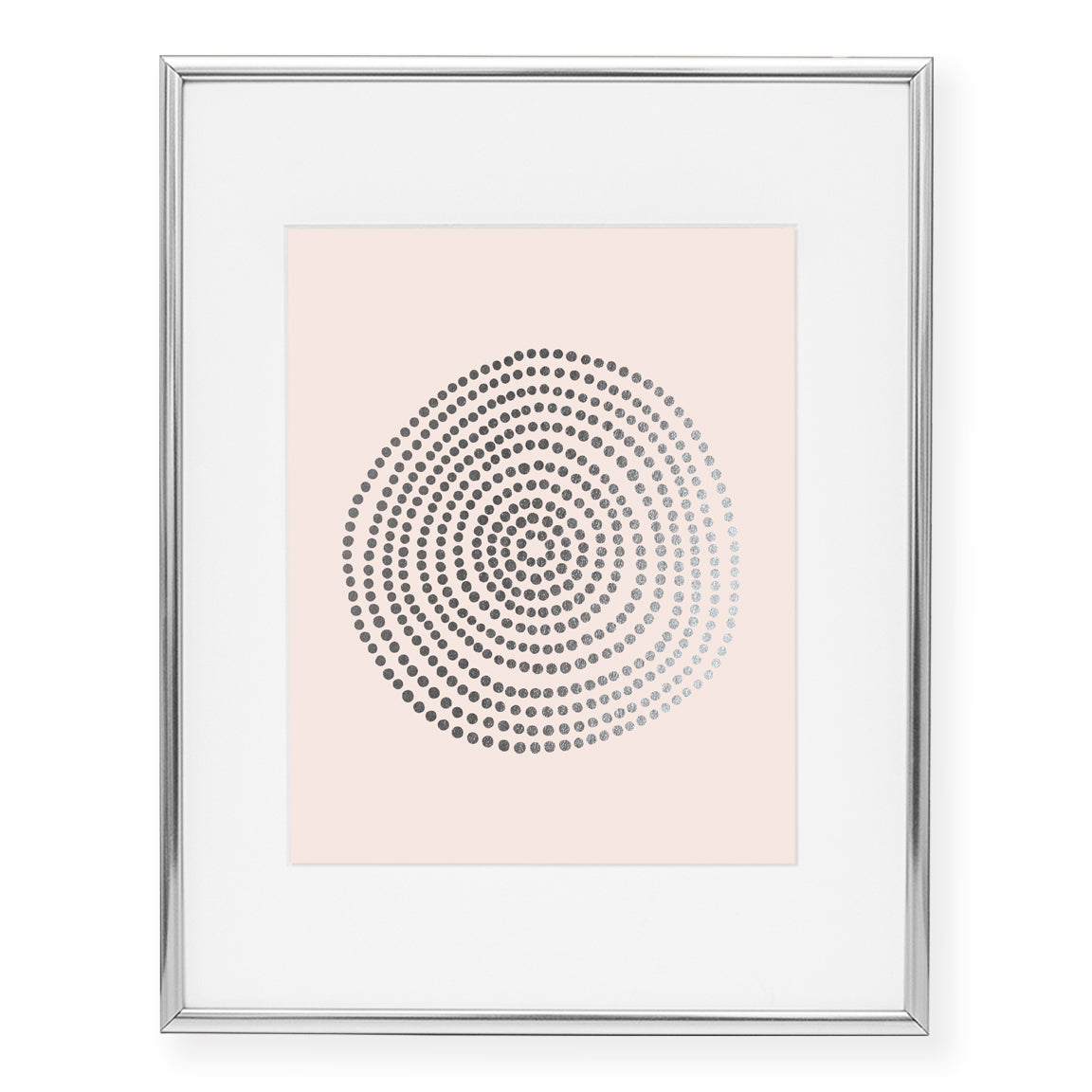 Circle of Dots Foil Art Print
