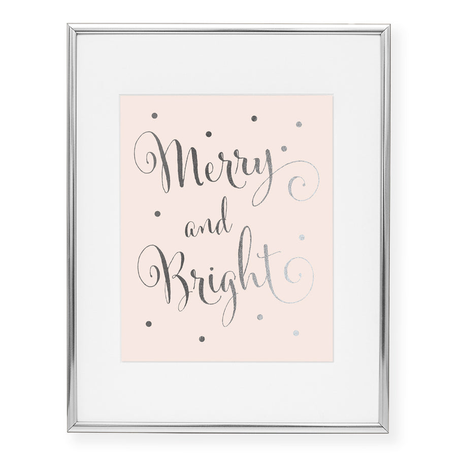 Merry and Bright Foil Art Print