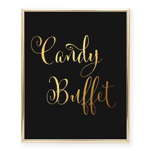 Candy Buffet Foil Art Print