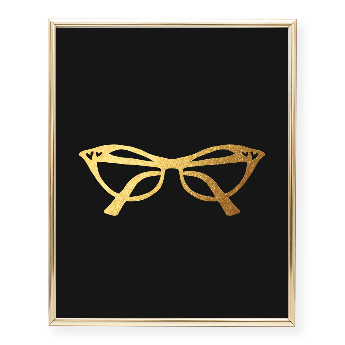 Cat Eye Glasses Foil Art Print