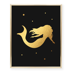 Mermaid Foil Art Print