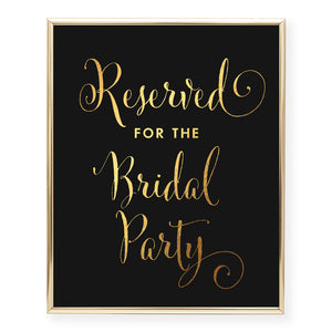 Reserved for Bridal Party Foil Art Print