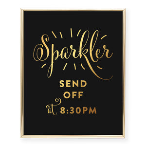 Sparkler Send Off Foil Art Print