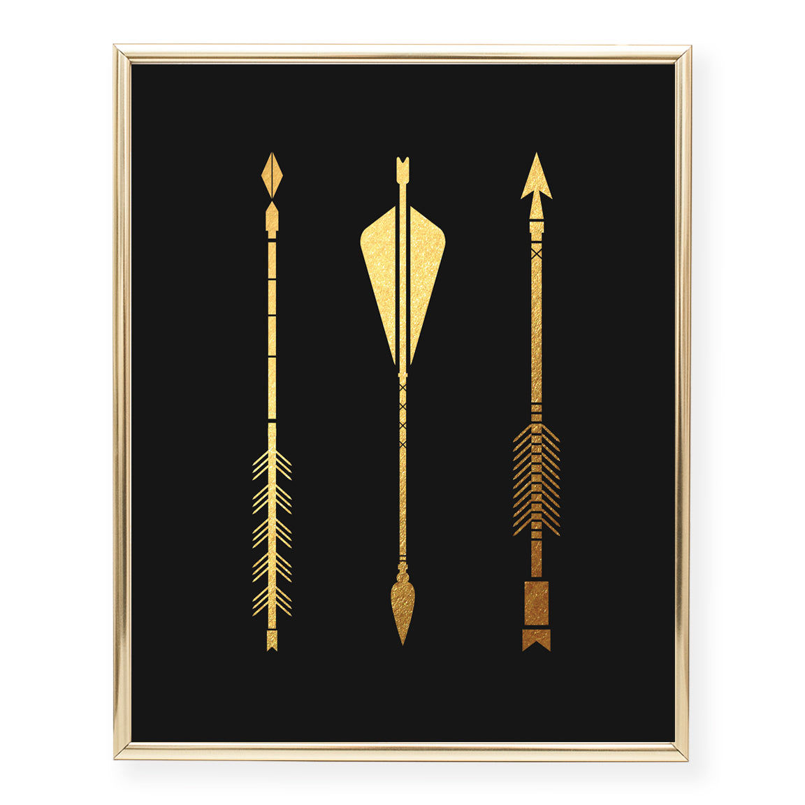 Three Arrows Foil Art Print