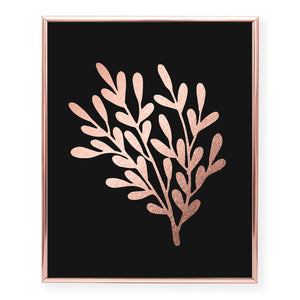 Branches with Leaves Foil Art Print