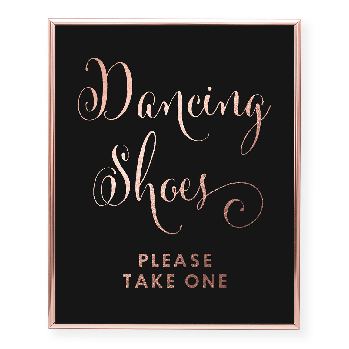 Dancing Shoes Foil Art Print