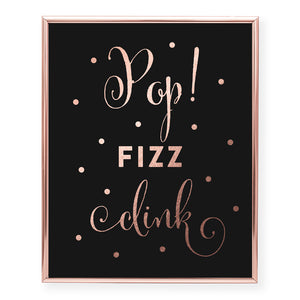 Pop Fizz Clink Foil Art Print