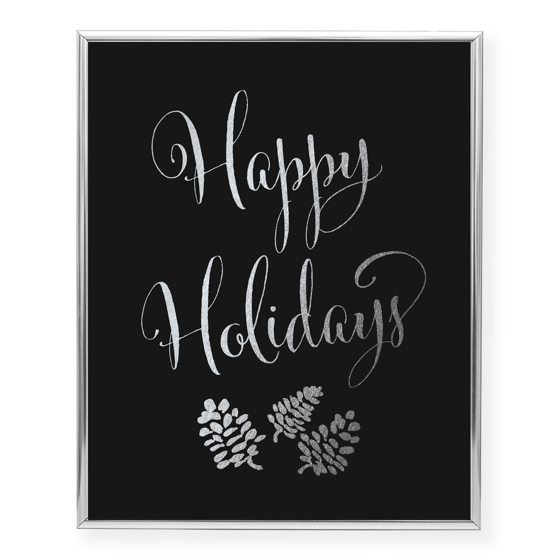 Happy Holidays Foil Art Print