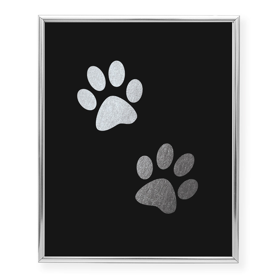 Paw Prints Foil Art Print