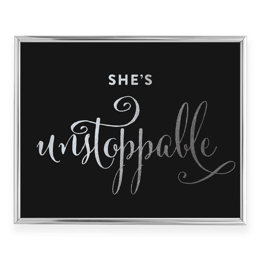 Unstoppable Foil Art Print