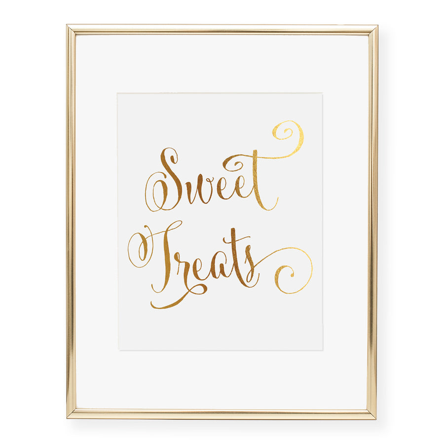 Sweet Treats Dessert Sign Foil Art Print