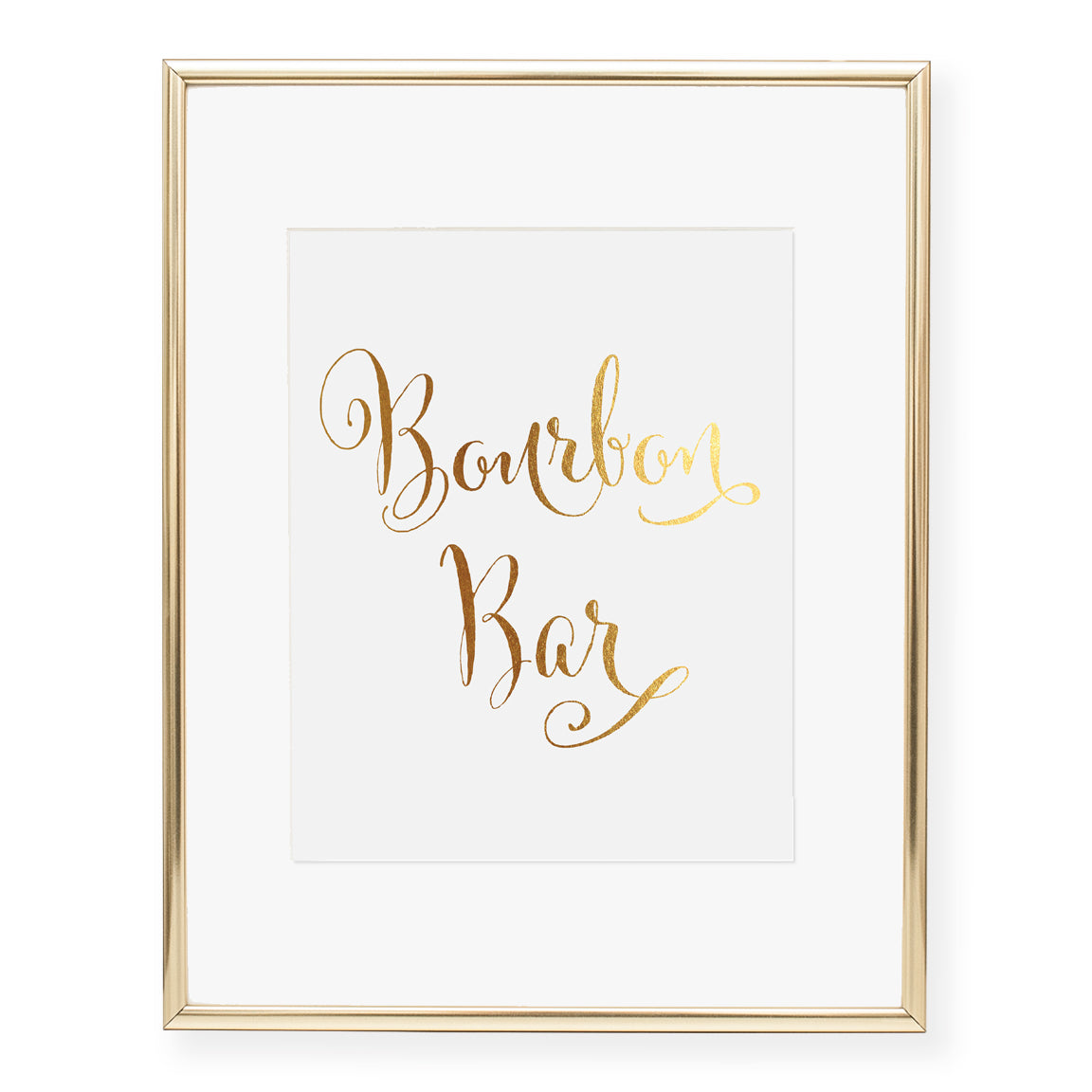 Bourbon Bar Foil Art Print