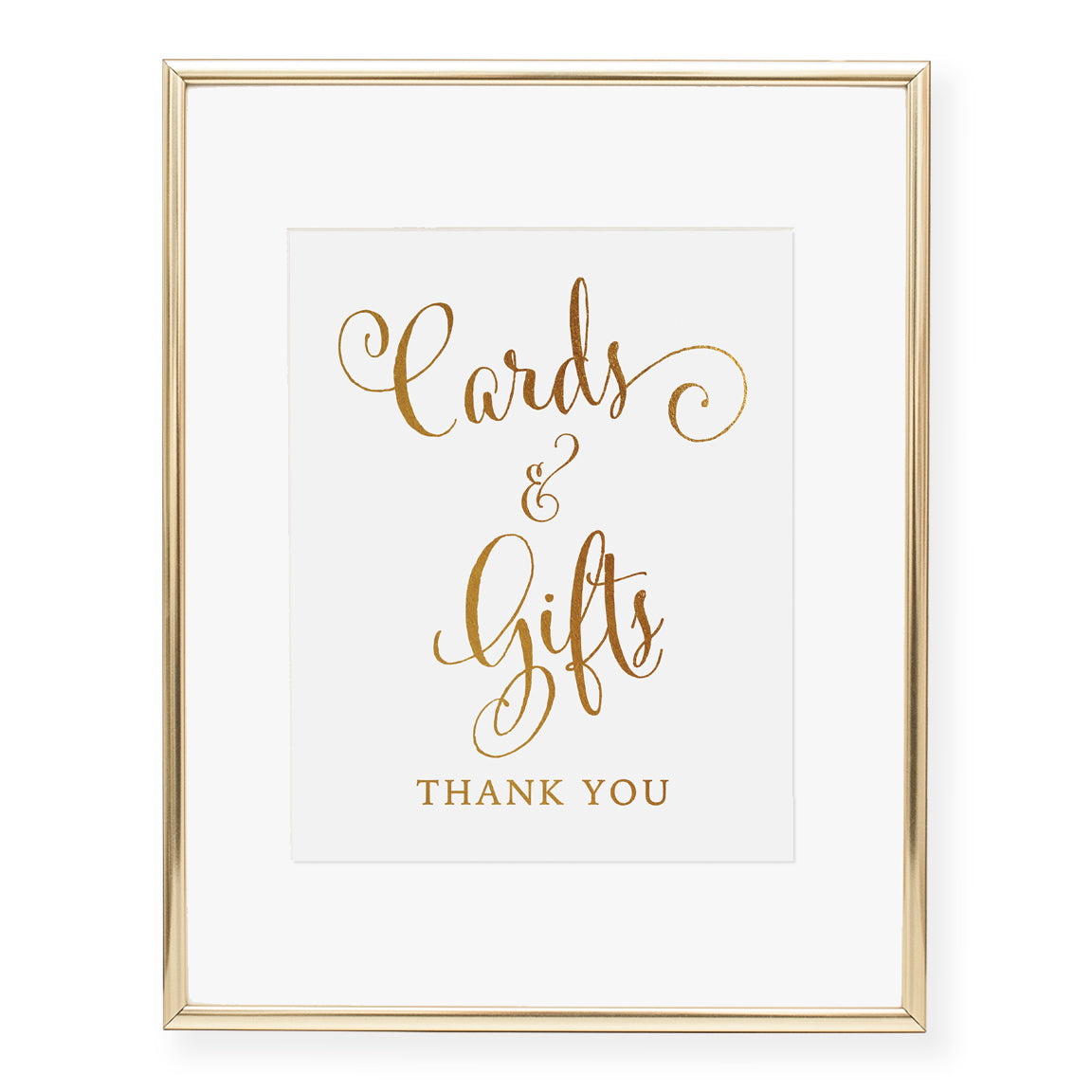 Cards & Gifts Thank You Foil Art Print