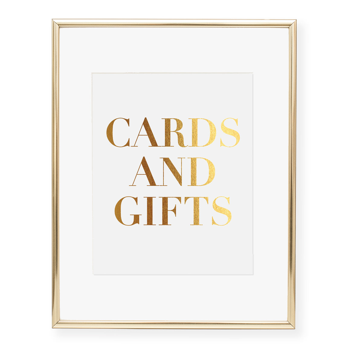 Cards & Gifts Foil Art Print