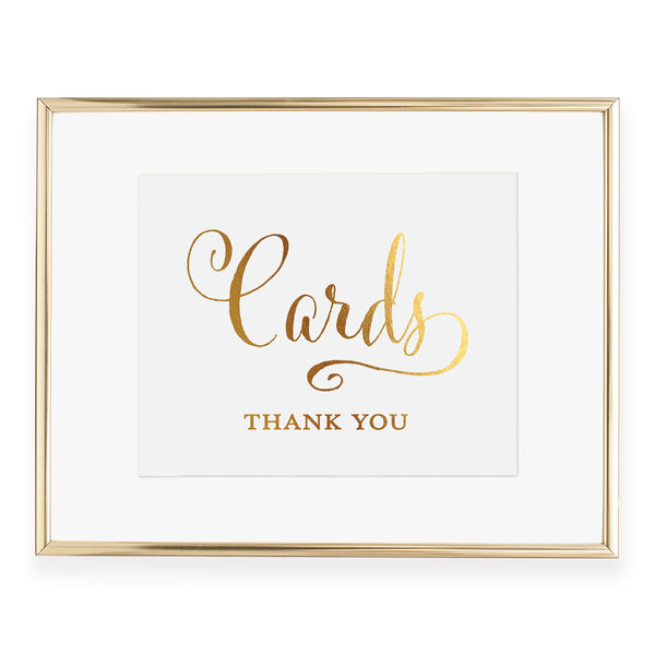 Cards Thank You Foil Art Print