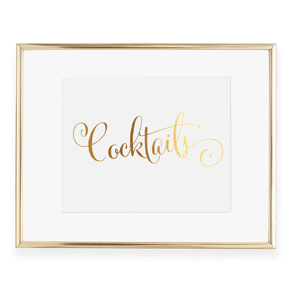 Cocktails Foil Art Print