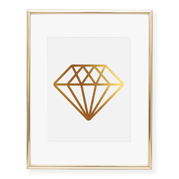 Diamond Foil Art Print