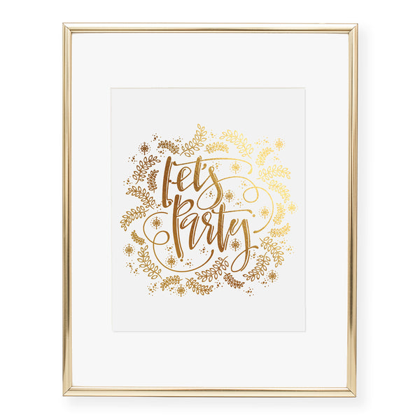 Let's Party Foil Art Print