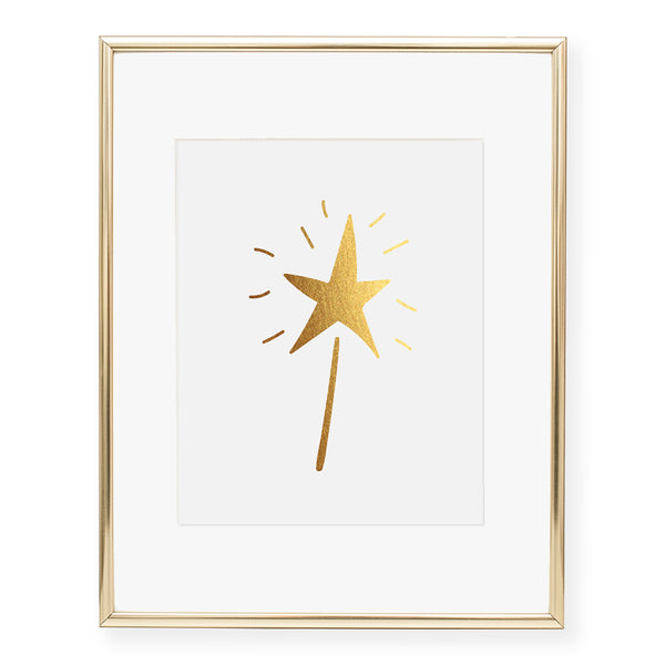 Magic Wand Foil Art Print