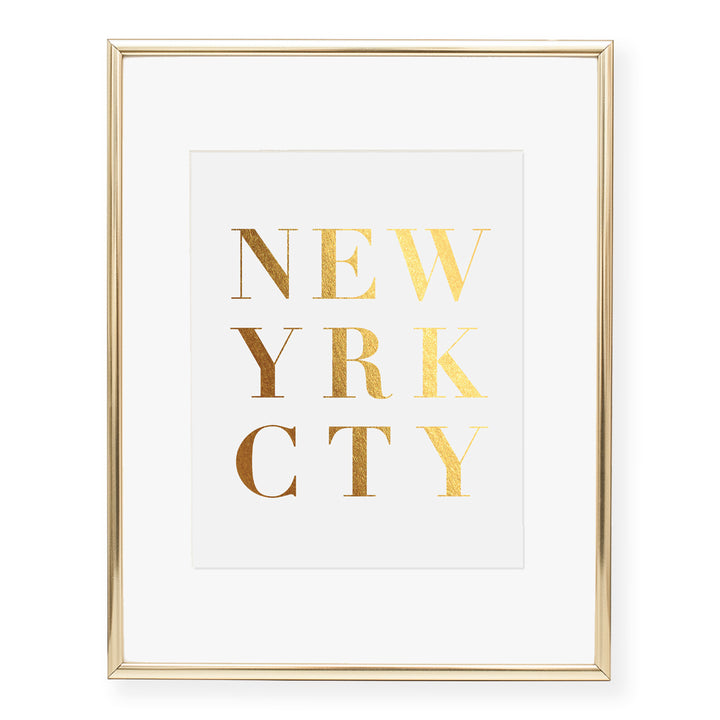 New York City Foil Art Print