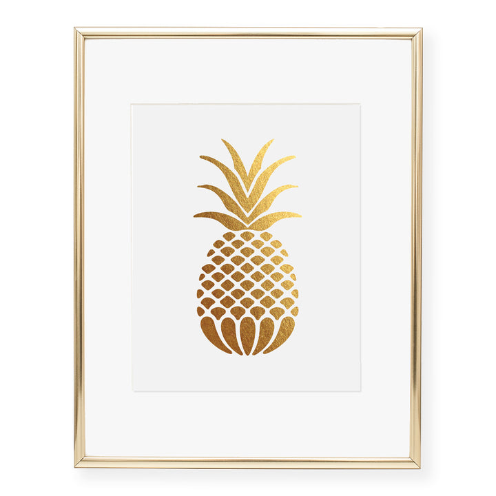 Pineapple Foil Art Print