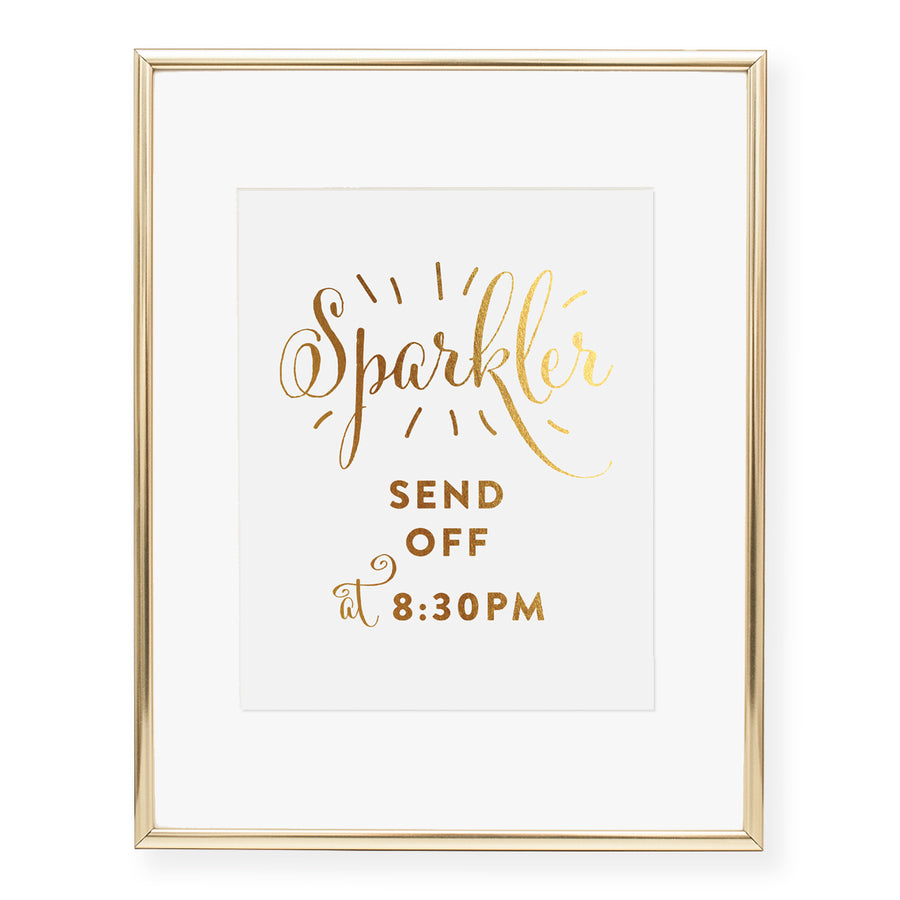 Sparkler Send Off Custom Foil Art Print