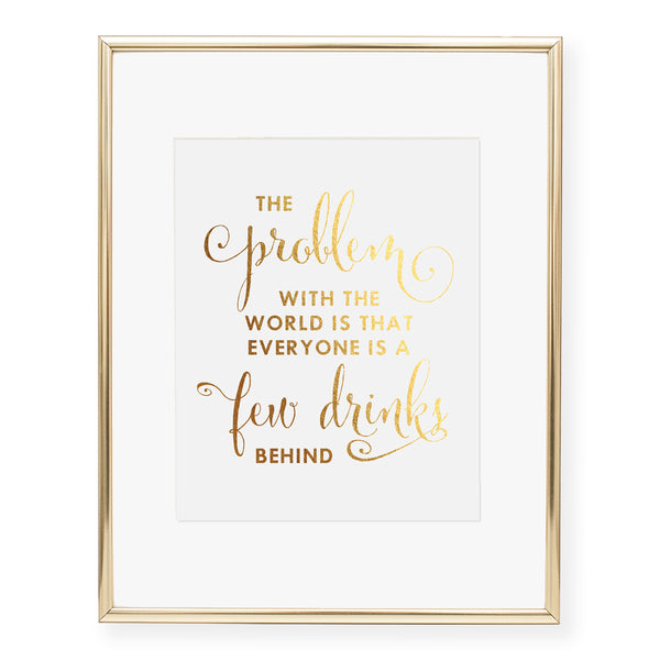 Humphrey Bogart Quote Foil Art Print