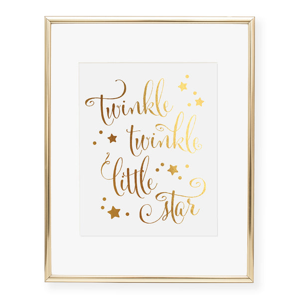Twinkle Twinkle Little Star Foil Art Print
