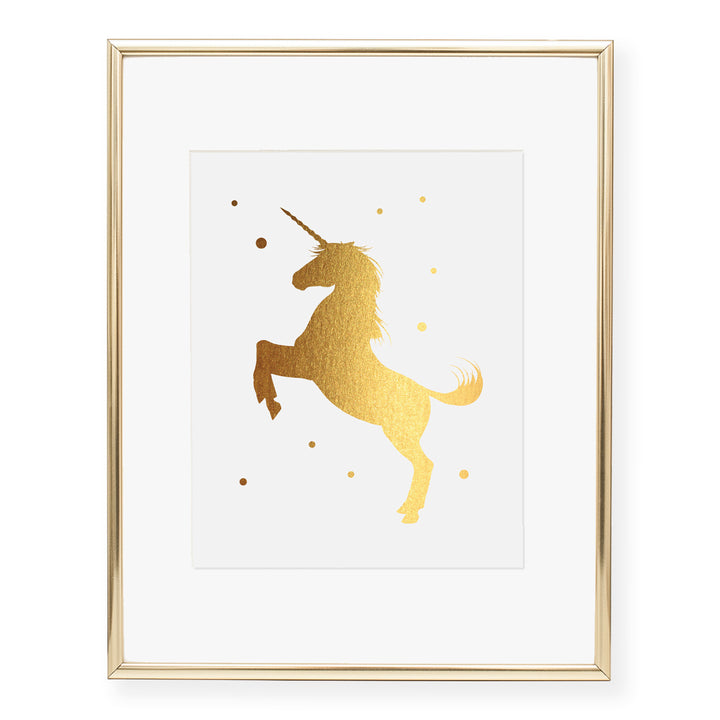 Unicorn Foil Art Print