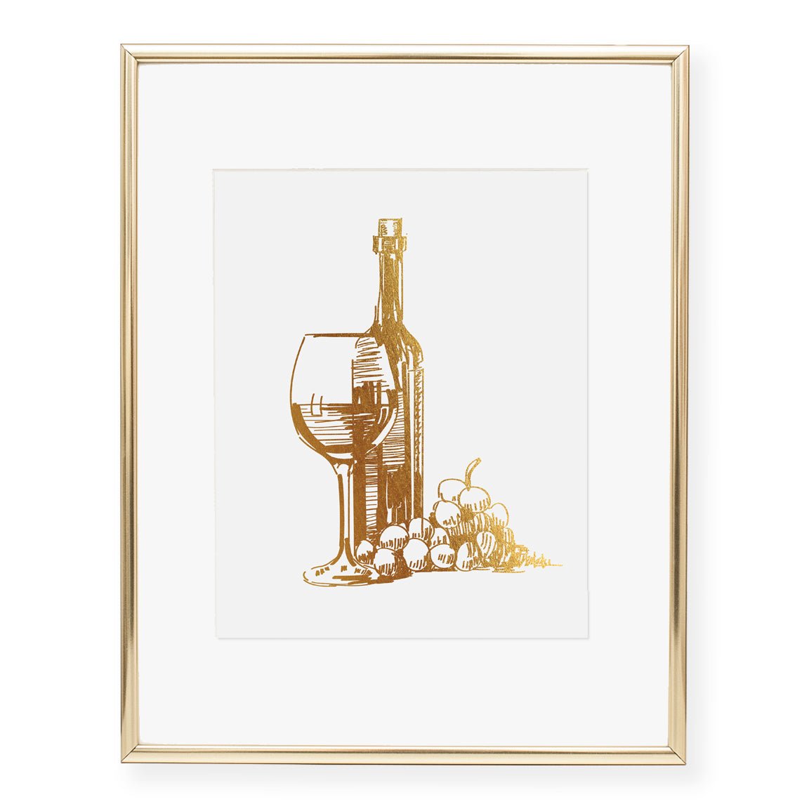 1 Pcs Europe Still Life Red Wine With Glass Wall Art
