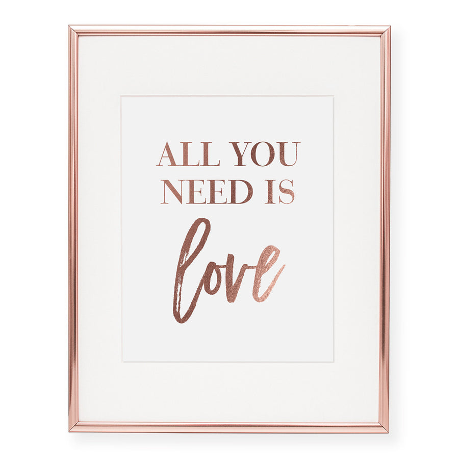 All You Need Is Love Foil Art Print