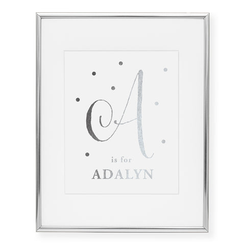 Custom Kids Monogram Foil Art Print