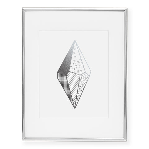 Abstract Gemstone Foil Art Print