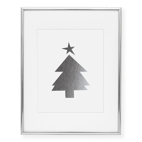 Christmas Tree Foil Art Print