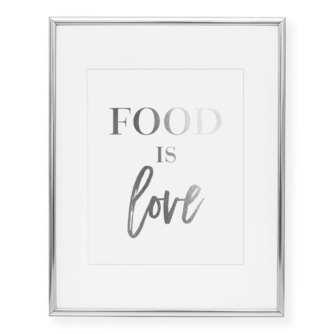 Food Is Love Foil Art Print