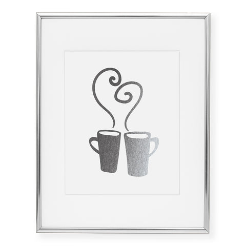 Hot Mugs Foil Art Print