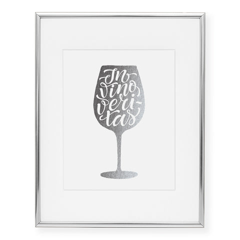 In Vino Veritas Foil Art Print