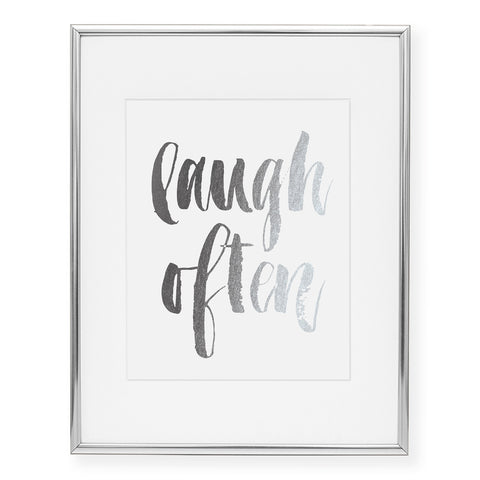 Laugh Often Foil Art Print
