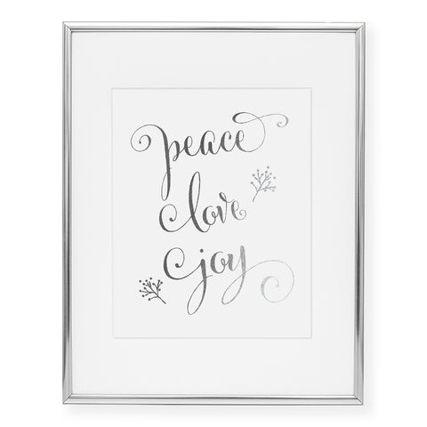 Peace Love Joy Foil Art Print