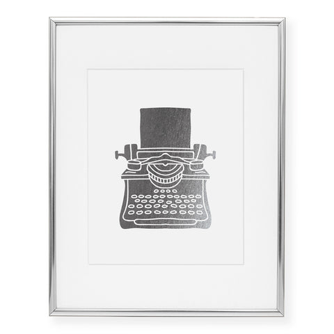 Typewriter Foil Art Print
