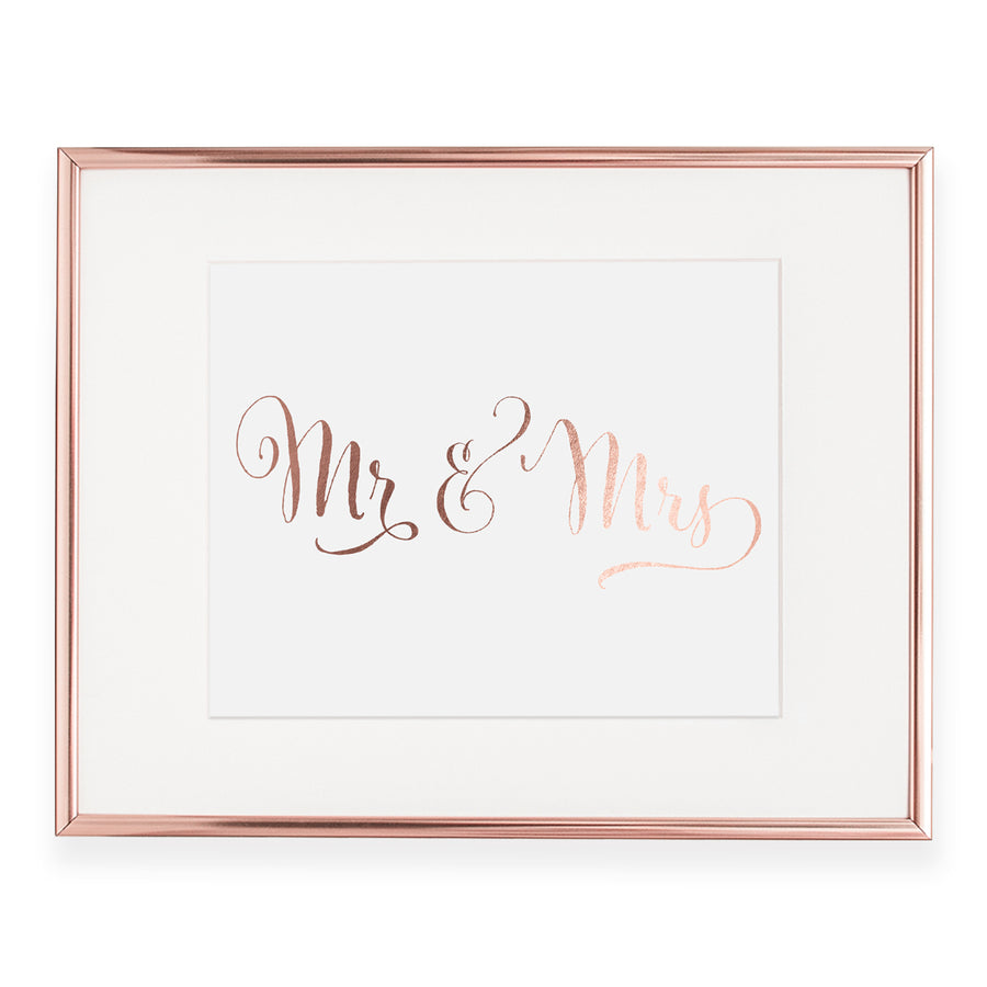 Mr + Mrs Foil Art Print