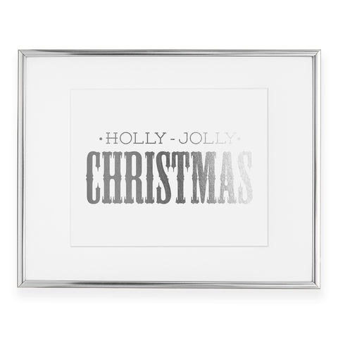 Holly Jolly Christmas Foil Art Print
