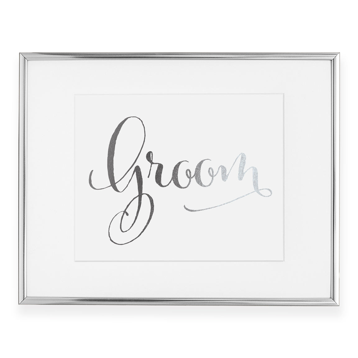 Groom Foil Art Print