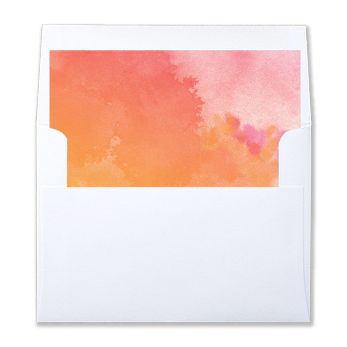 """Felicity"" Watercolor Envelope Liners"