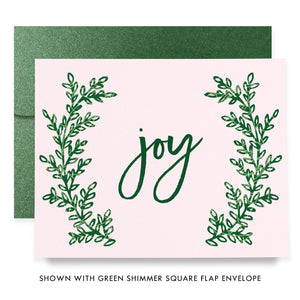 Pink & Green Boxed Holiday Cards | Flora