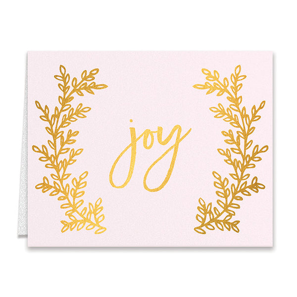 Pink & Gold Boxed Holiday Cards | Flora